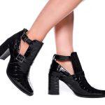 bota croco preta com abertura na lateral e salto meisis shoes (2)